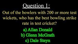 Cricket Trivia #1