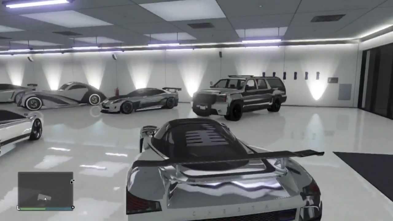 GTA Online - My Garage - All Supercars CHROME - Adder, Cheetah ...