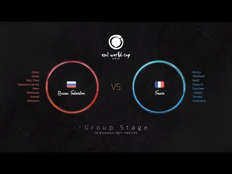 osu! World Cup 2017 (OWC 2017) Group Stage: Russian Federation vs France