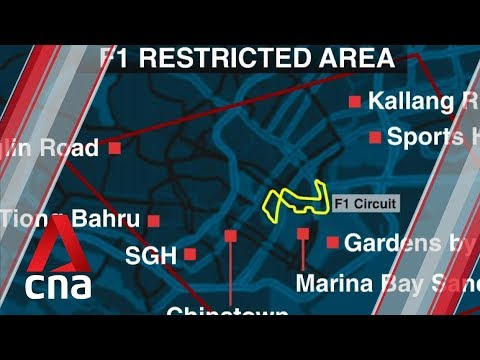 Aerial activities restricted during F1 Singapore Grand Prix