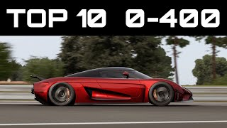TOP 10 FASTEST 0-400 CARS | Forza Motorsport 7 | Crazy Accelerations!
