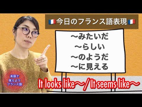 フランス語の6種類の表現「〜のようだ、らしい、みたいだ、に見える/ It looks like~, It seems like~」‼︎『英語で覚えようフランス語レッスン』