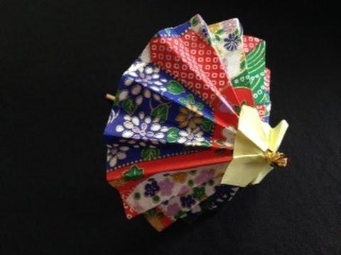 Origami Japanese Umbrellas : 箸入れ 折り紙 : 折り紙
