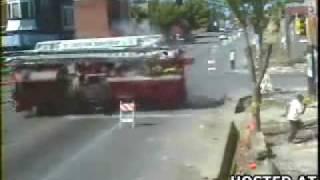 Accident de camion de pompier