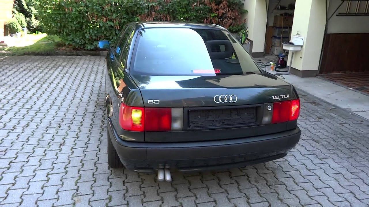 audi 80 tdi youtube. Black Bedroom Furniture Sets. Home Design Ideas