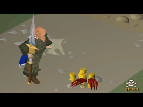 Tbing PKers when they're low food Made me Bank