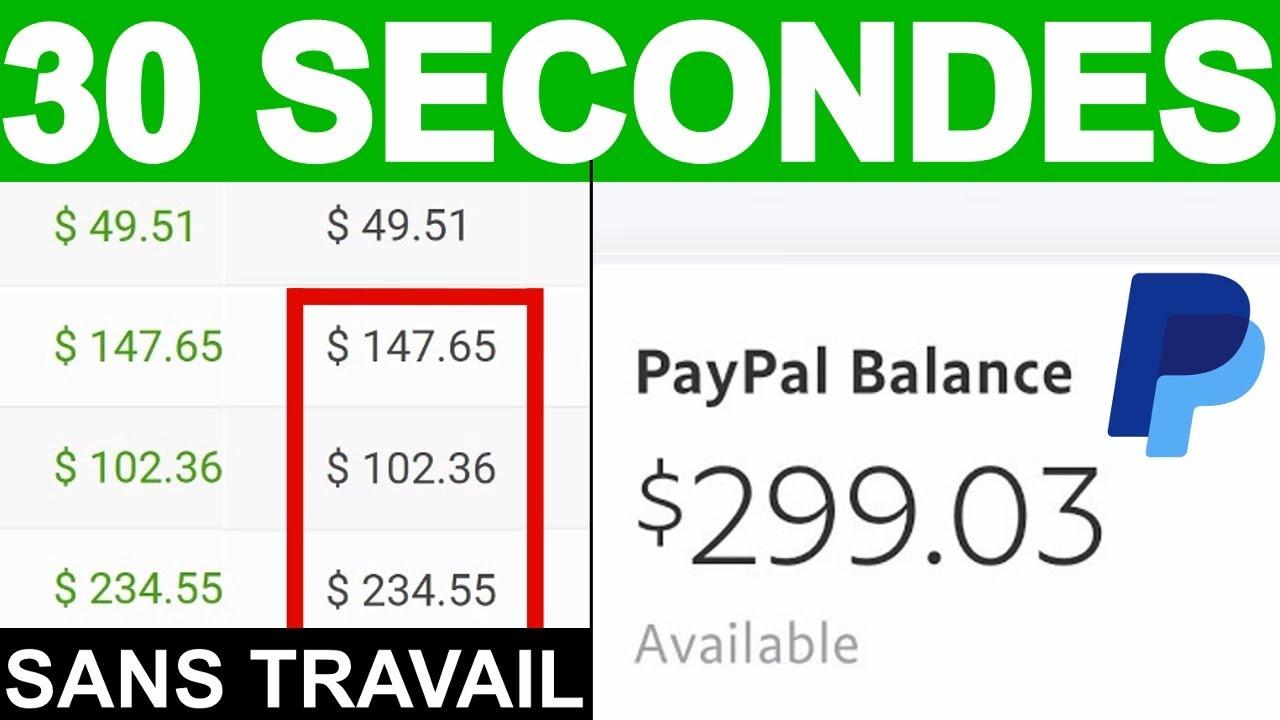Gagner 1,02€ d'Argent PayPal TOUTES les 30 SECONDES en ILLIMITÉ /Argent en ligne, Argent PayPal,2020