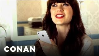 Zooey deschanel and siri are going through a bit of rough patch.