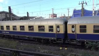 Vintage electric loco leaves Koln