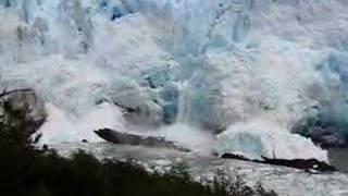 Glacier Perito Mereno - ice fall Thumbnail