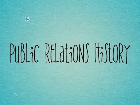 Public Relations History