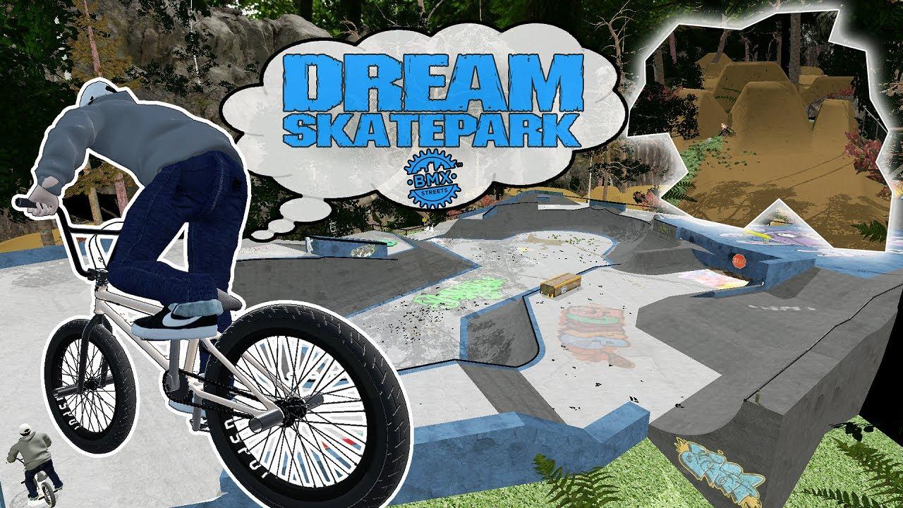 Dream Forest Skatepark & Dirt Jumps! - BMX Streets PIPE