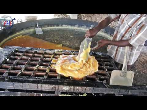 Jaggery Make in My Village Naturally - Farmer Making Jaggery in Field - Cane Sugar Block of Panela