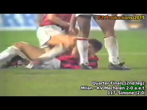 1989-1990 European Cup: AC Milan All Goals (Road to Victory)