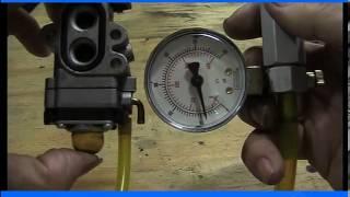 carburetor pressure testing