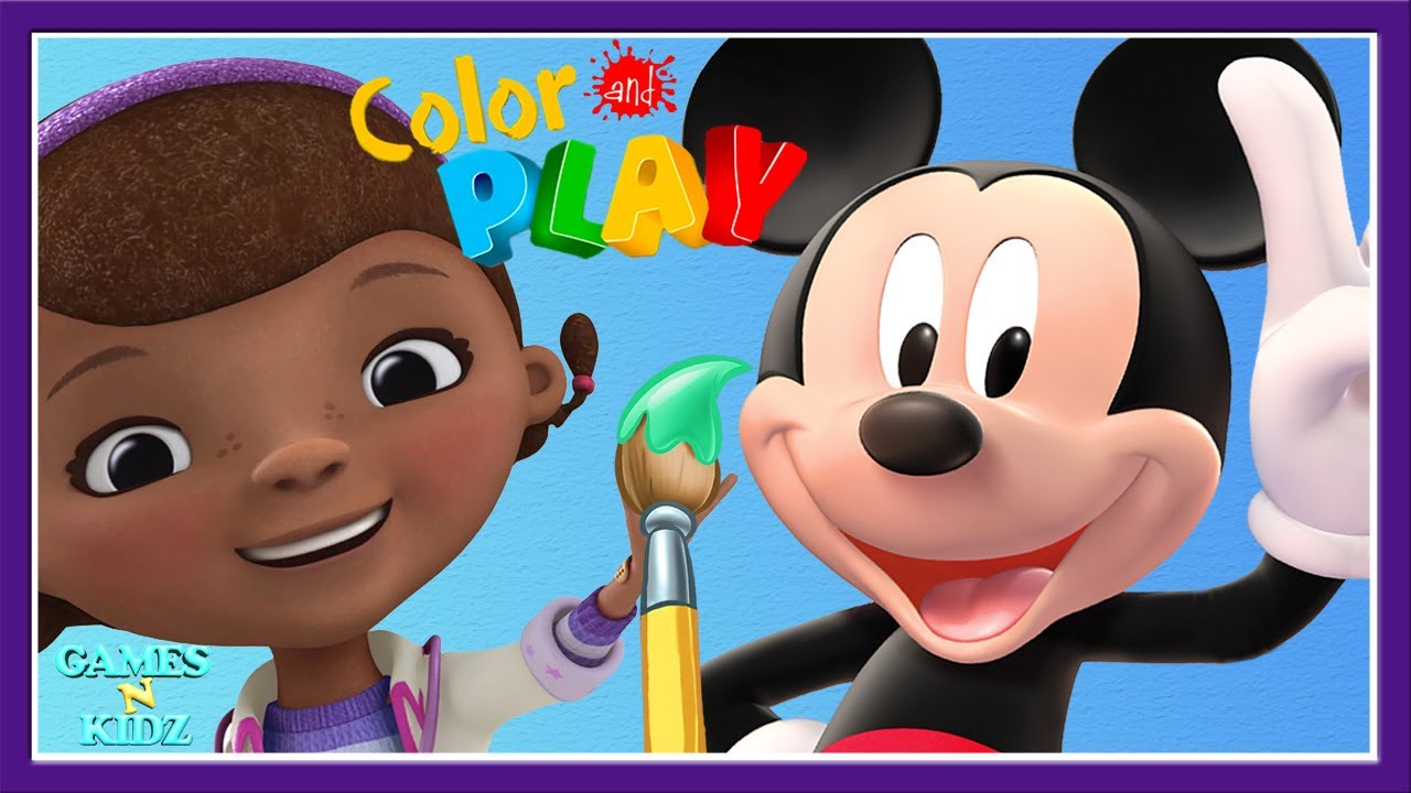 Mickey Mouse Clubhouse Minnie Mouse Doc McStuffins 3D Coloring