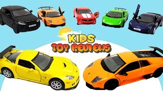 Unboxing Kids Toy Cars! Learning Colours with RMZ City Toy Cars. Educational Children Car Videos