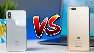Чем флагман отличается от бюджетника? 🤔 Переплачивать ли за смартфоны?   iPhone X vs Xiaomi Mi A1