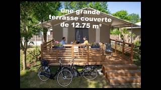 """Le """"Oulébo"""", bungalow toilé, modèle """"modern lodge"""" 26-2-s de chez CIAT"""