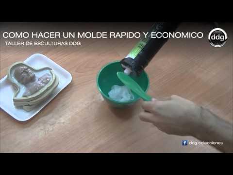 Como hacer un molde de silicona rápido y económico por DDG