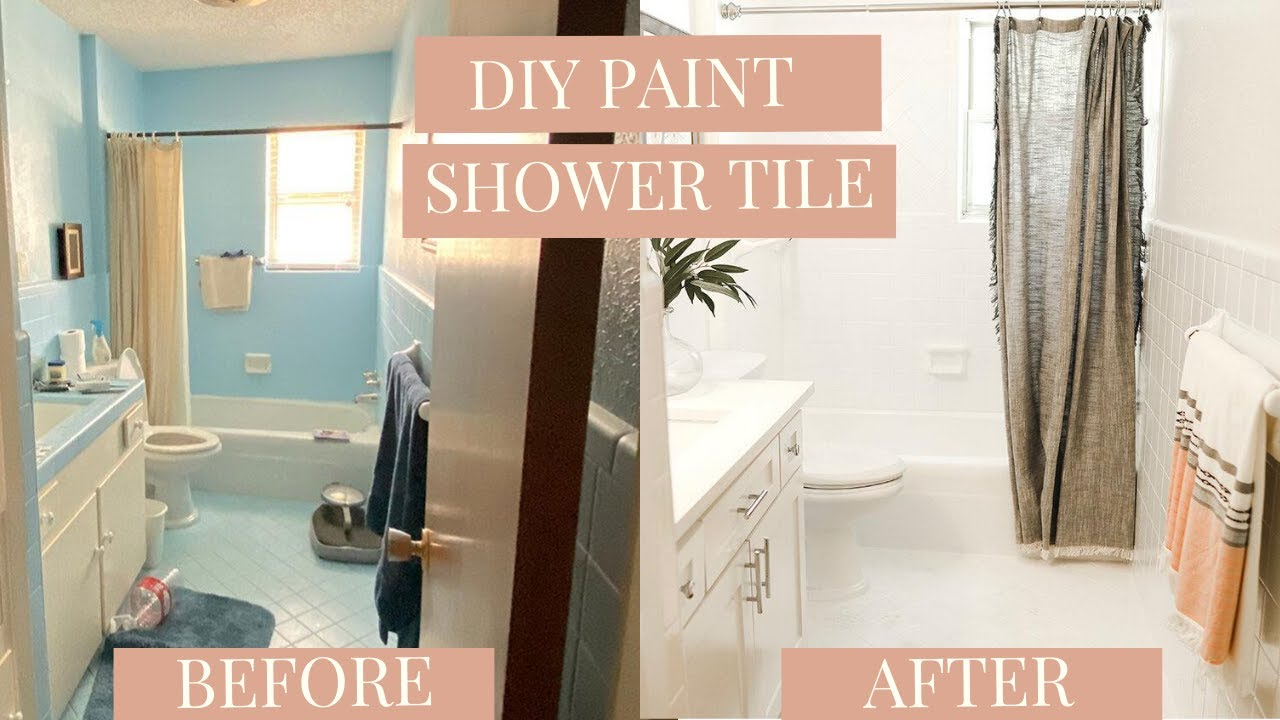 how to diy paint shower tile one year later review rust oleum tub tile refinishing kit
