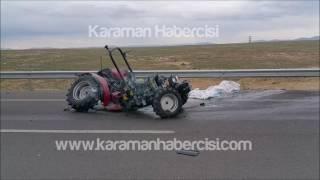 Karaman Haber : Karaman Ereğli Yolunda Trafk kazası