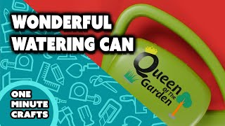 WONDERFUL WATERING CAN - One Minute Crafts