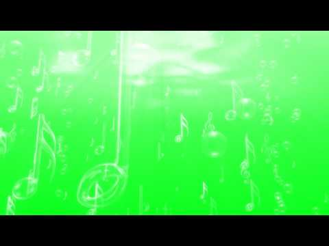 FREE HD Green Screen FLOATING MUSICAL SYMBOLS