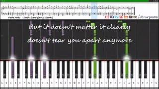 Download lagu Adele Hello Easy to Advanced Piano Tutorial Music Sheet MIDI with Lyrics MP3