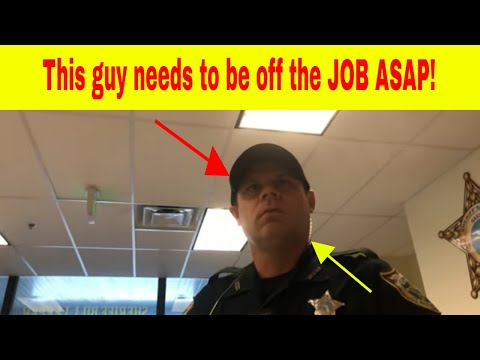 Nassau County Deputy LOST IT! First Amendment Audit HUGE FAIL! Other Employees Couldn't Calm Him!