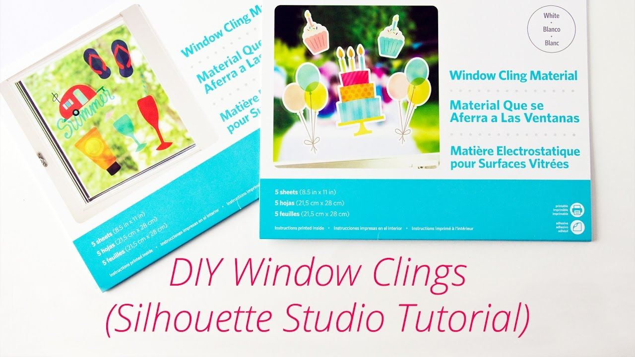 diy window clings with silhouette window cling material silhouette studio tutorial - Window Clings