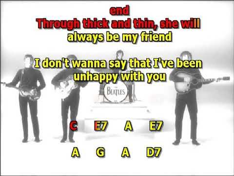 Another girl Beatles mizo vocals no lead guitar lyrics chords