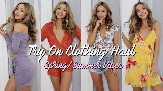 HUGE TRY ON CLOTHING HAUL 2018 | Getting Ready for Warm Weather | Fashion Nova