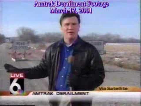 Amtrak Derailment Footage near Nodaway, IA March 17, 2001