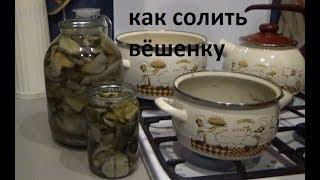 Как солить грибы вёшенку