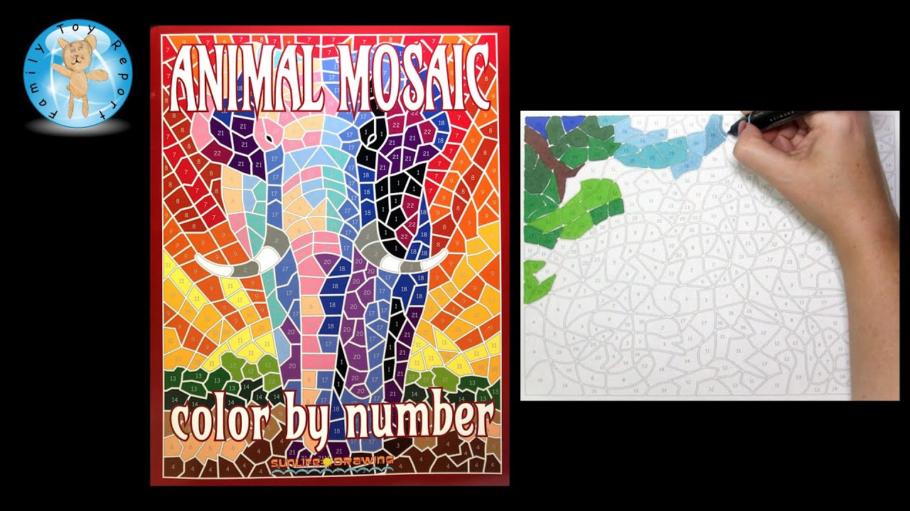 Animal Mosaic Color By Number Coloring Book Sunlife Drawing Leopard Family Toy Report
