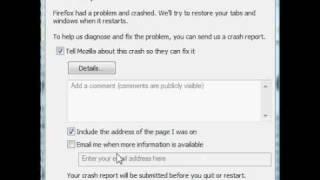 Mozilla Firefox Crash