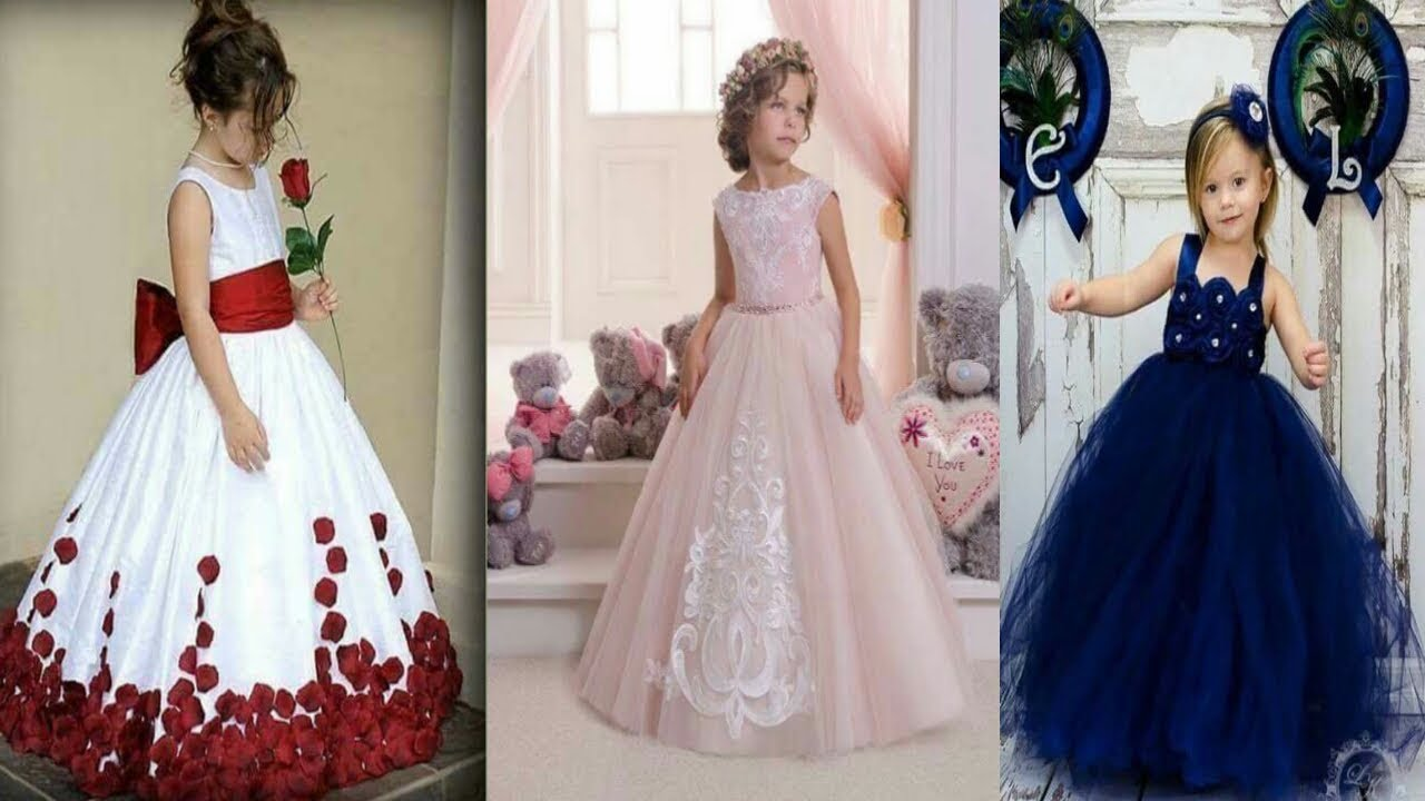 14b31abd7 Latest Designs For Kids Gown Dresses long Frocks