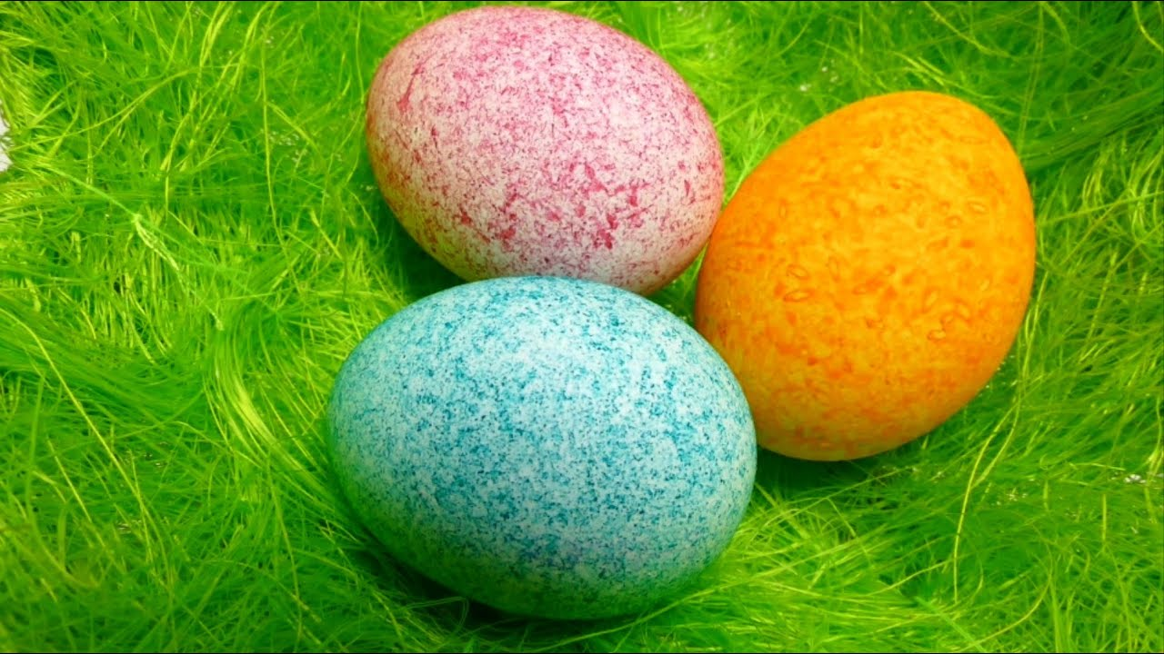 Easter Egg Decorating - Coloring with Dye Rice - Shake It - YouTube