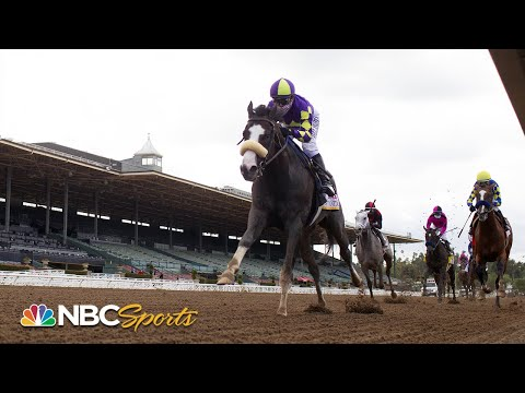 Honor A.P. Rallies Late To Win $400,000 RUNHAPPY Santa Anita Derby | NBC Sports