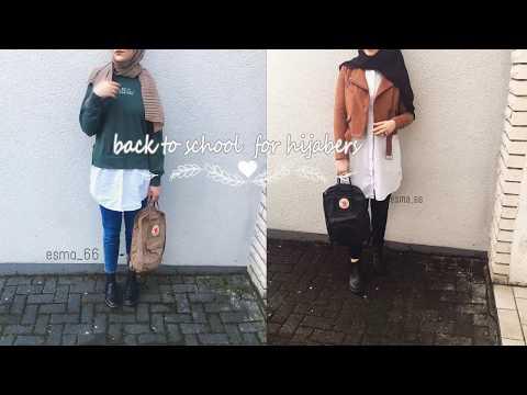 2f6ac4c7d Casual back to school Hijab fashion 💜💜ستايلات الرجوع للمدرسة للمحجبات 💜  💜 2017