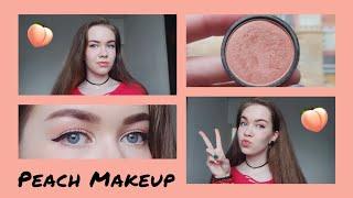 Персиковый макияж Peach makeup