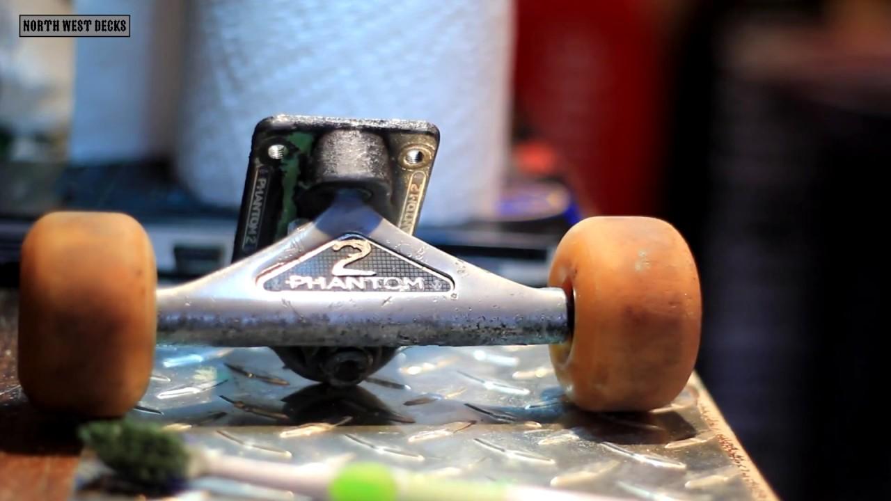how to clean skateboard trucks