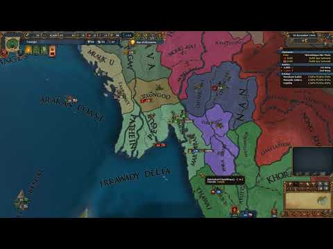 Eu4 Taungu unite Burmese culture group and defeat Ming before 1500 on very hard no exploits part 1