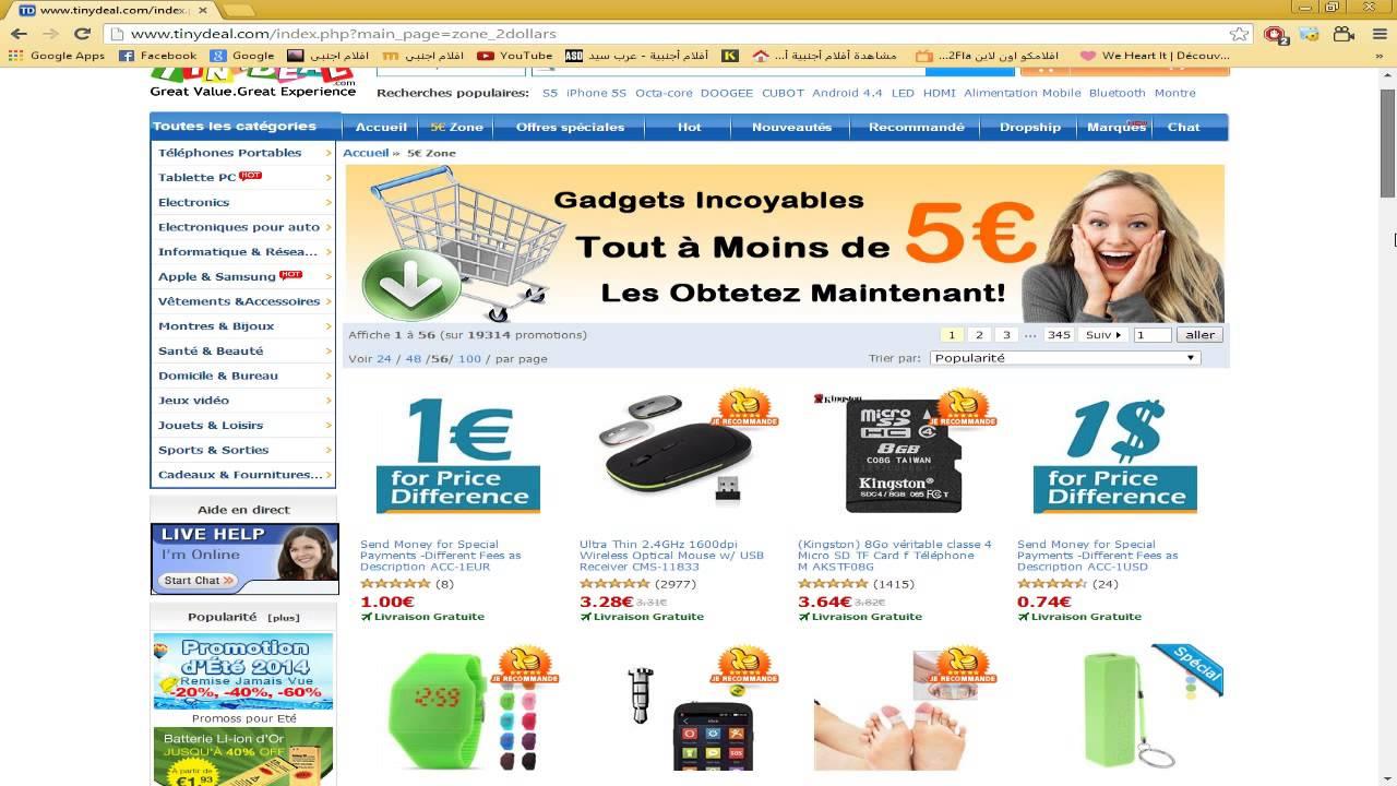 meilleur site pour les achats en ligne