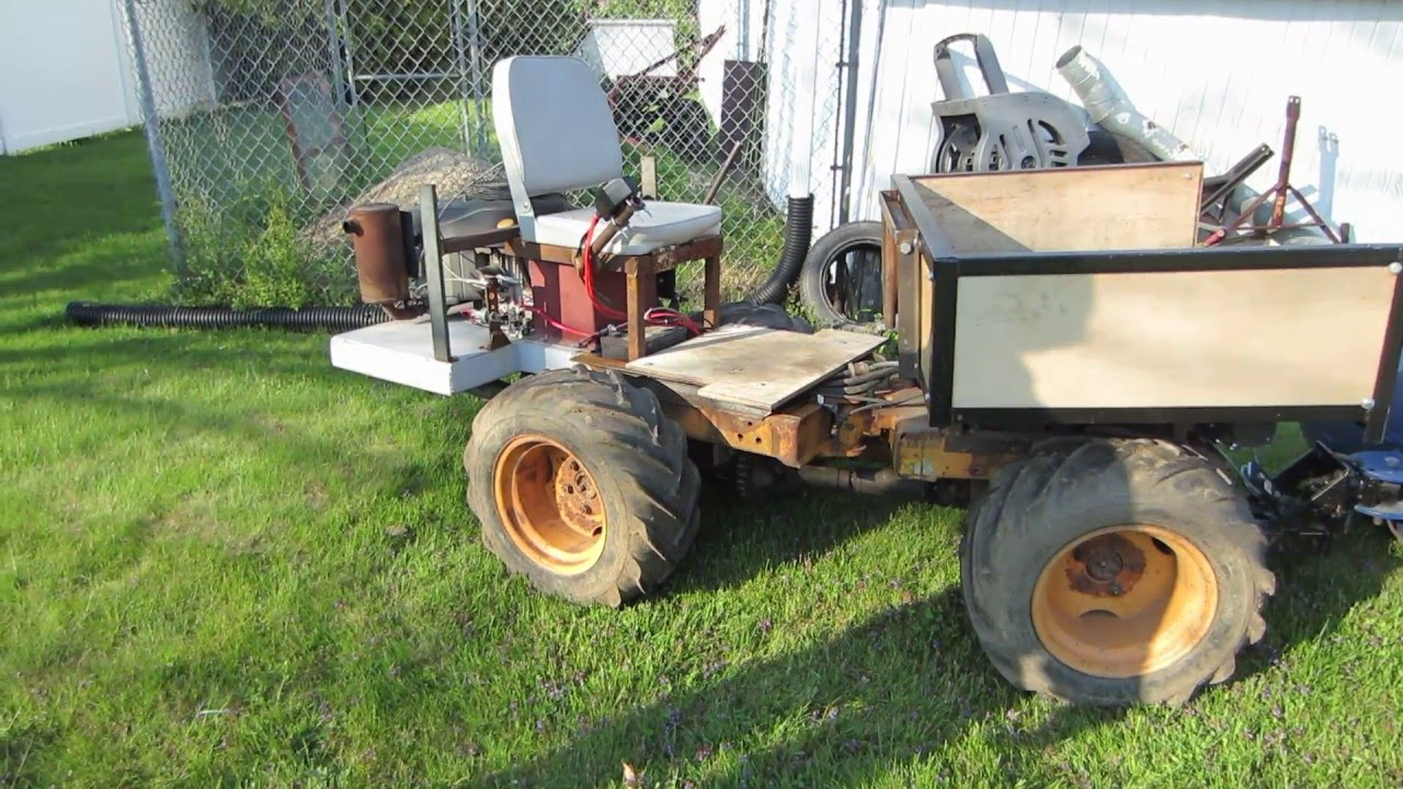 homemade articulating 4x4 tractor YouTube – Articulated Garden Tractor Plans