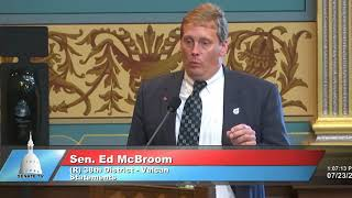 Sen. McBroom critiques Natural Resources Trust Fund limits on improving lands