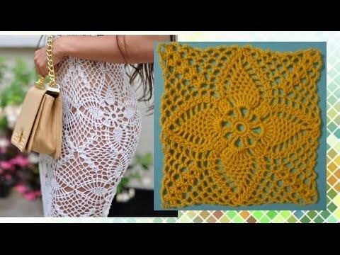 Платье из мотива ананаса