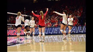 Recap: Arizona women's volleyball sweeps past Arizona State in league opener