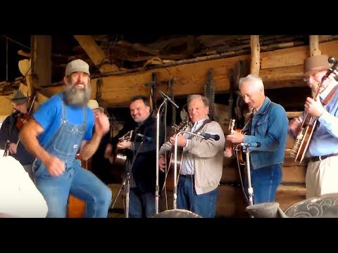 Hilarious Clog  Dancer steals the show from Steve Gulley and his band...  Buck Dancing full video!